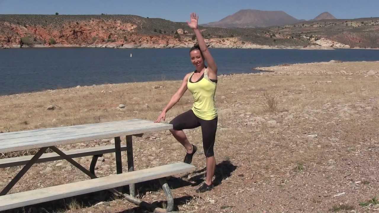 Picnic Table Exercises at Gunlock State Park, UT - YouTube