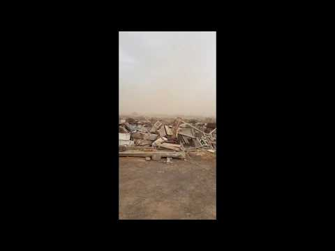 SCARY!! Sandstorm hits Djibouti City, Eastern Africa.