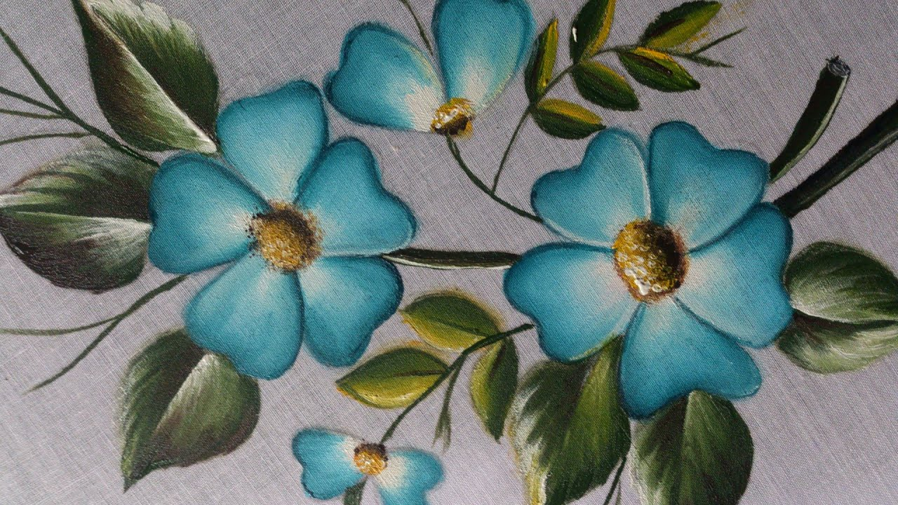 FABRIC PAINTING TUTORIAL, FABRIC PAINTING ON CLOTHES ...