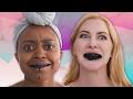 Women Try Charcoal Teeth Whitening