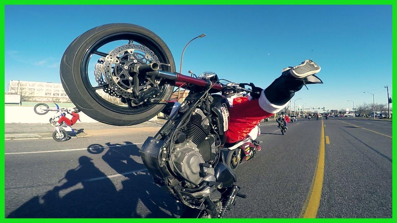 MOTORCYCLE STUNT RIDE St.Louis Santa STUNT Ride ...