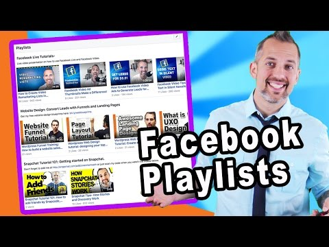 How to set up a Facebook Video Playlist (facebook marketing)