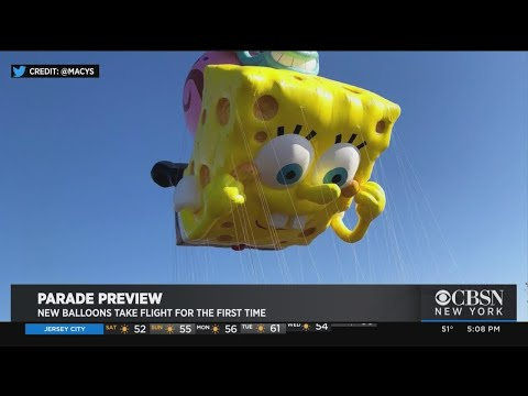 Macy's Previews Thanksgiving Parade Balloons