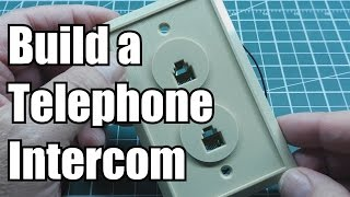 Build an Intercom using two old Telephones