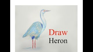 How to draw Heron step by step  ||very easy||