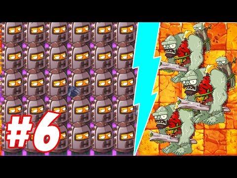 Endurian Level 10 Maximum Level Power Up vs Jurassic Gargantuar Plants vs Zombies 2 #6