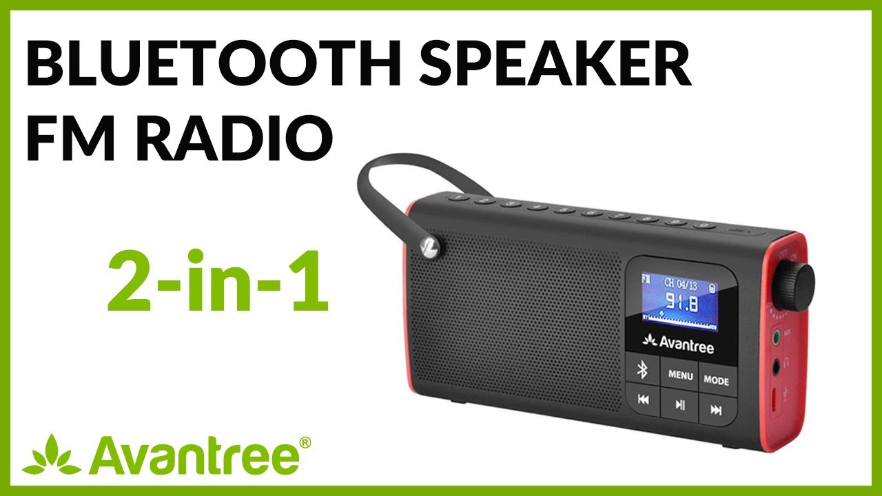 6bef37ea35a Avantree How to-Bluetooth Speaker with FM radio, Portable Wireless Radio  with Micro SD Card-SP850