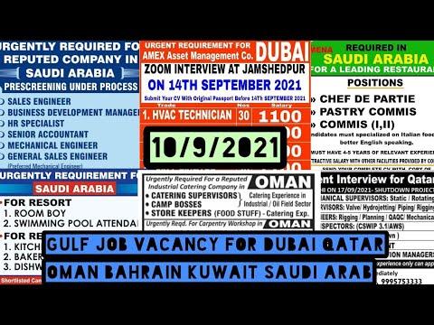Gulf job vacancy for Dubai, Qatar, Oman, Bahrain, Kuwait, Saudi Arab, Abu Dhabi, muscut daily news.