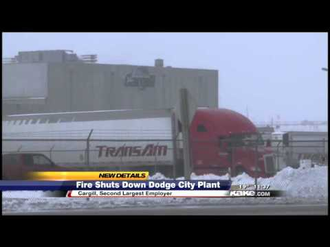 Kansas Cargill plant catches fire, workers dismissed early for day