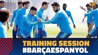 Full house for Espanyol derbi training