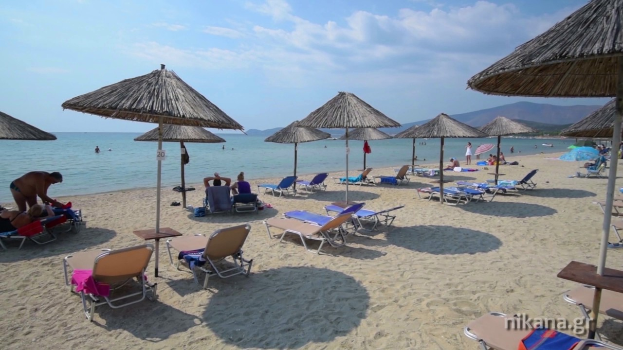 San Antonio Beach Near Potos Thassos Youtube