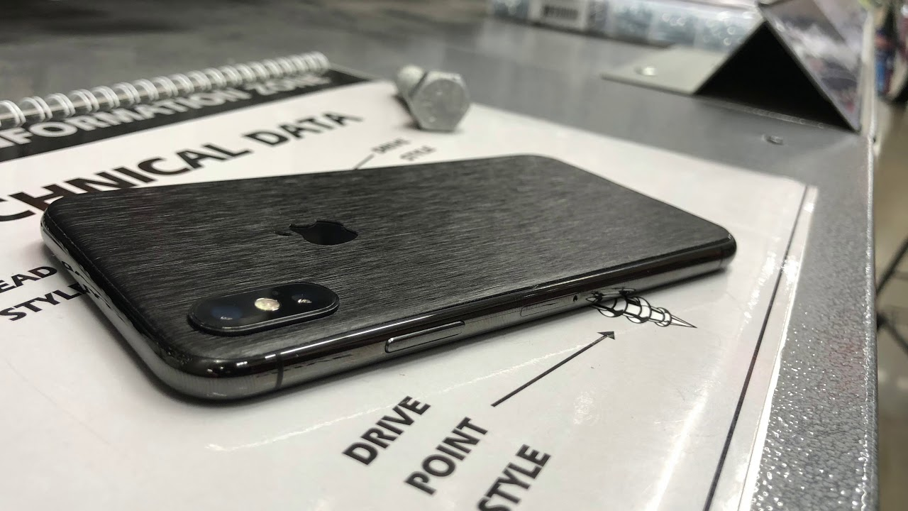 newest 8a431 b6d1b Dbrand Hyperblack Titanium Skin - iPhone X