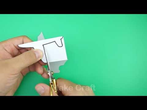dIY Puzzle fun little plane children cut paper craft HD