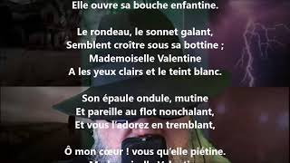 Mademoiselle Valentine - Albert Glatigny lu par Yvon Jean