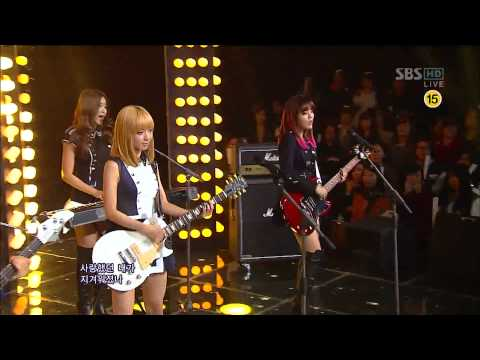 AOA - Get Out [SBS Inkigayo Comeback Stage 121014] Live HD