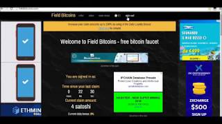 Field Bitcoins - free bitcoin faucet