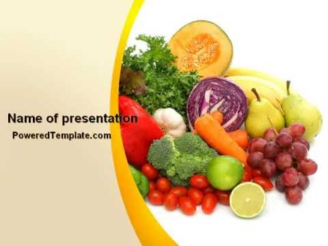 fruits and vegetables powerpoint templatepoweredtemplate, Modern powerpoint