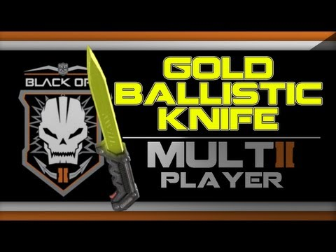Ballistic Knife Upgraded in Black Ops Ops 2 Gold Ballistic Knife