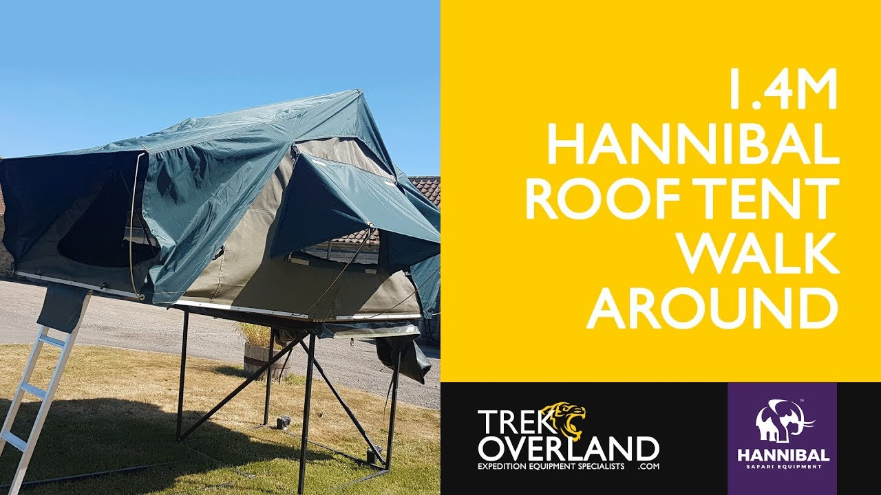 Hannibal 1.4m Roof Tent ...  sc 1 st  YouTube & Hannibal 1.4m Roof Tent Walk Around - Trek Overland - YouTube