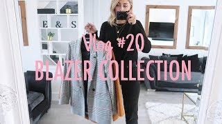 Vlog #20 | My Blazer Collection & How I Style Them