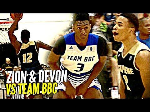 Zion Williamson Devon Dotson Dominate Team Bbc Zion Shuts Gym Down W Nasty Dunk Youtube