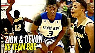 Zion Williamson & Devon Dotson DOMINATE vs Team BBC!! Zion Shuts Gym Down w/ NASTY Dunk! thumbnail
