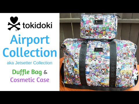Tokidoki Airport Collection (aka Jetsetter Collection) - Duffle Bag and Cosmetic Case