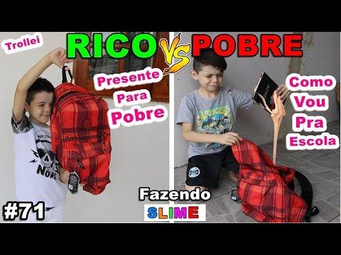 RICO VS POBRE FAZENDO AMOEBA / SLIME #71
