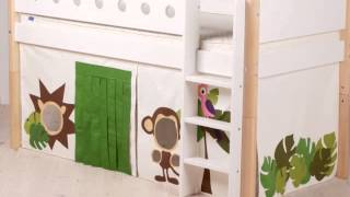 Flexa White Bed System