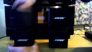 BOSE acoustimass CUBE speakers  stereo AM-5 January  8, 2012 08:26 AM