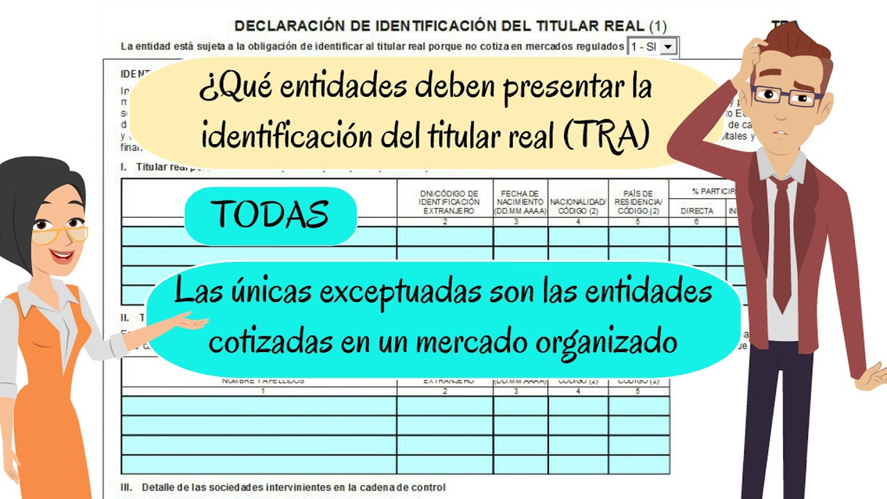 TITULARIDAD REAL CUENTAS ANUALES - YouTube