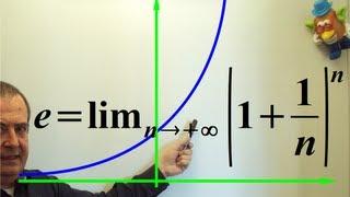 Fonction Exponentielle : le nombre e