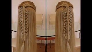 Коса ажурная+рыбий хвост  Красивое оформление распущенных волос. Видео-урок.