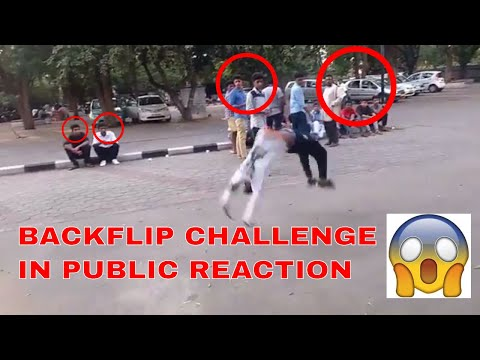 BACKFLIP PRANK IN INDIA !!PUBLIC REACTION PART 1!!BY HEYDRABADI LAFANDAR PRANKS