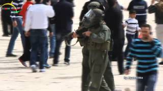 Israeli Soldiers Invading Al-Aqsa Mosque, Jerusalem - March 8, 2013