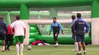 The Only Way Is Essex: Mark Wright & Arg playing football