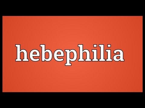 Hebephilia Meaning