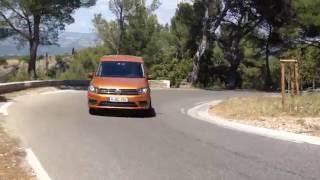 Тест Volkswagen Caddy. 180 км/ч по горному серпантину