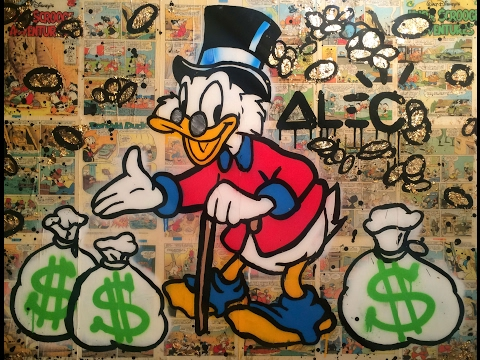 INSANE CELEBRITY GRAFFITI ARTIST - Alec Monopoly