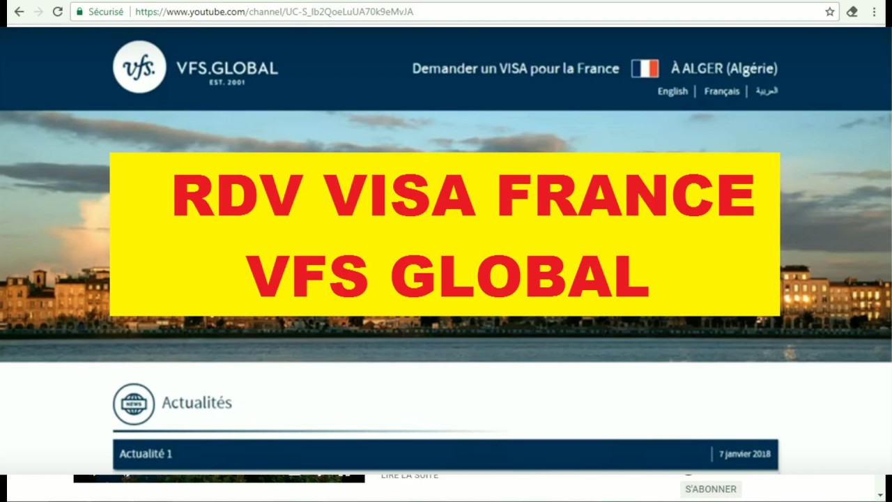 formulaire visa france vfs global