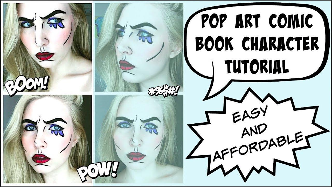 Pop art comic book character makeup tutorial too much tash youtube pop art comic book character makeup tutorial too much tash baditri Choice Image
