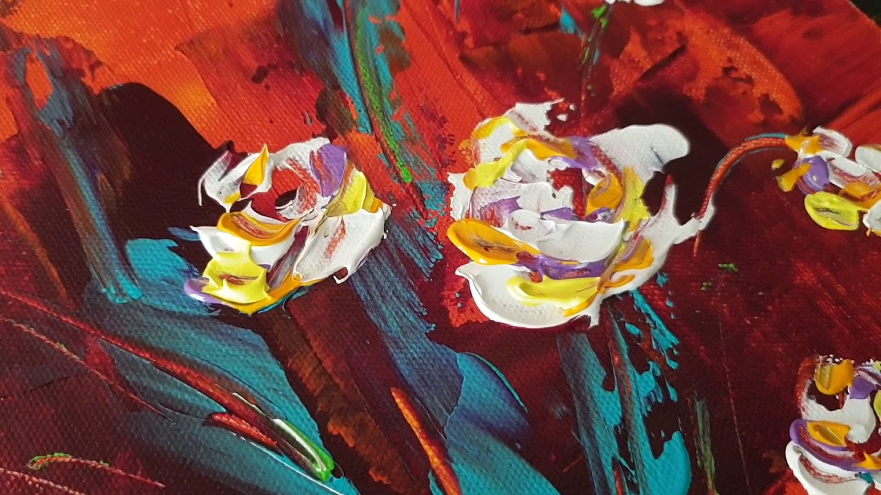 Abstract Close Up Painting