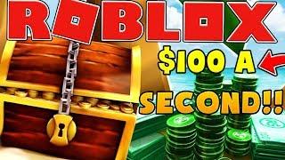 100 USD PER SECONDO - ROBLOX TREASURE HUNT SIMULATOR #11