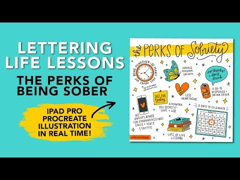 Lettering Life Lessons: The Perks of Sobriety