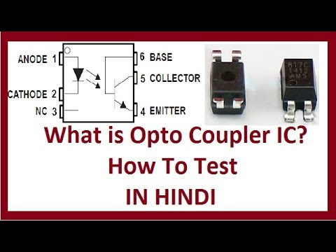 Optocoupler ic in Hindi !! Opto Coupler How its Works and Testing.