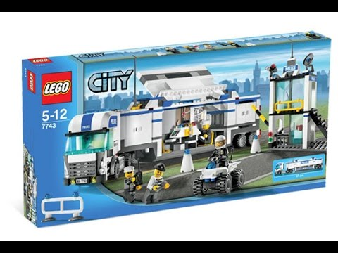 Lego 7743 Police Command Center City Police Instruction Booklet