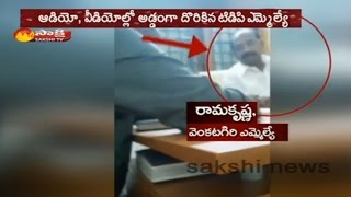 TDP MLA K Ramakrishna caught on camera demanding Rs 5 crores bribe
