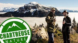 Bivouac Bushcraft entre potes Tarp Bushbox trek images de montagnes Chartreuse Vercors