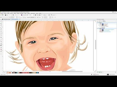 Transformando Foto Em Desenho Coreldraw B Spline
