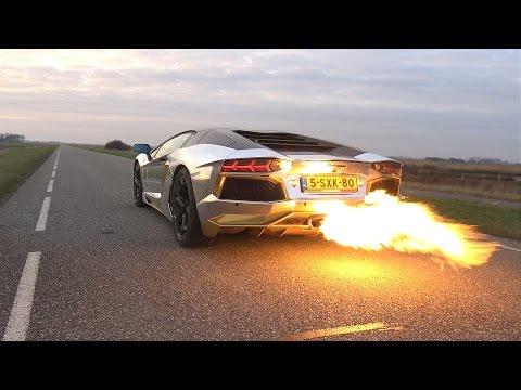 INSANE!! Lamborghini Aventador LP700 SPITTING HUGE FLAMES!
